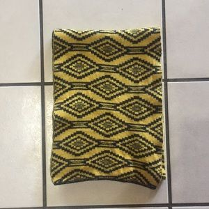Yellow and Black Reversible Tribal Scarf